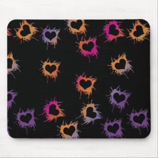 Colorful Small Hearts Mousepad
