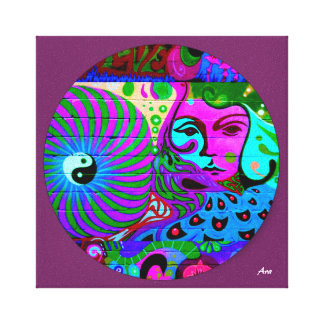 COLORFUL SMALL JEWEL ART CANBAS/violet bkrd Canvas Print