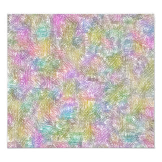 Colorful small lines photographic print