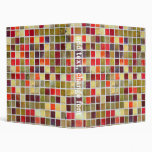 Colorful Small  Tiling Background 3 Ring Binder