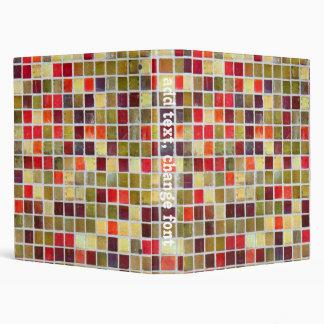 Colorful Small  Tiling Background Vinyl Binder