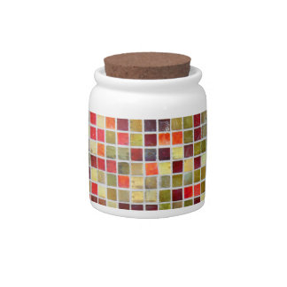 Colorful Small  Tiling Background Candy Jars