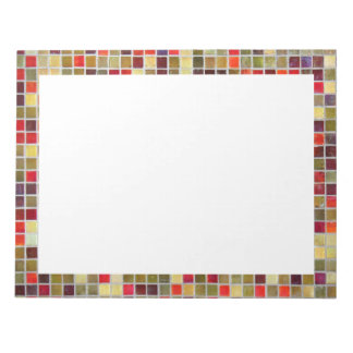 Colorful Small  Tiling Background Memo Pad