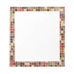 Colorful Small  Tiling Background Memo Pads