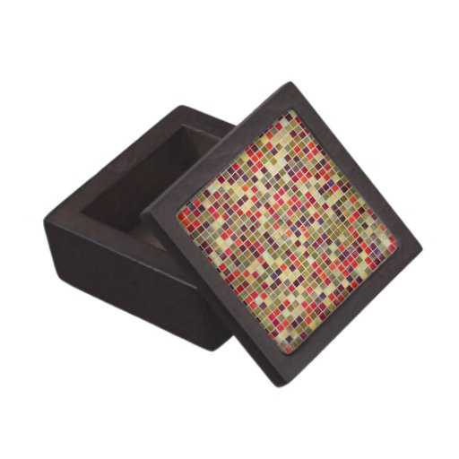 Colorful Small  Tiling Background Premium Gift Boxes