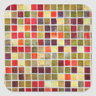 Colorful Small  Tiling Background Square Sticker