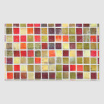 Colorful Small  Tiling Background Rectangular Sticker