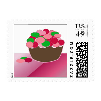 Colorful Smartie Cupcake Stamps