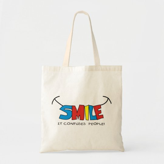 Colorful Smile Quote Tote Bag