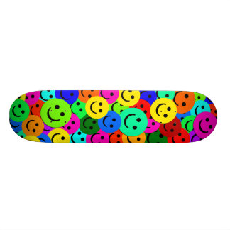 COLORFUL SMILEY FACES COLLAGE CUSTOM SKATE BOARD