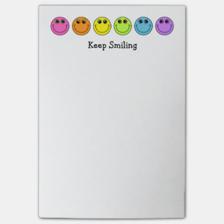 Colorful Smiley Faces Keep Smiling Post-it Notes