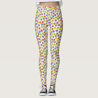 Colorful Smiley Faces Leggings