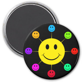 Colorful Smiley Faces Magnet