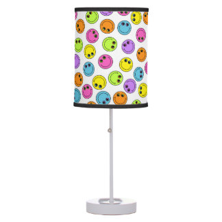 Colorful Smiley Faces Table Lamp