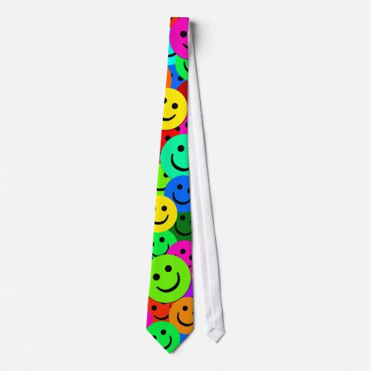 COLORFUL SMILEY FACES TIE