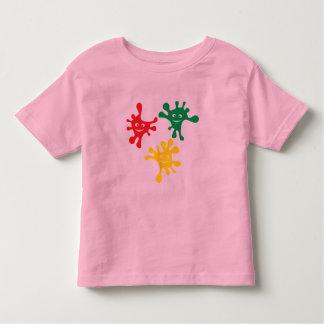 Colorful smiling ink blots tee shirt