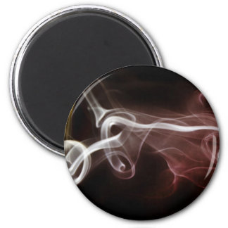 Colorful Smoke 2 Inch Round Magnet