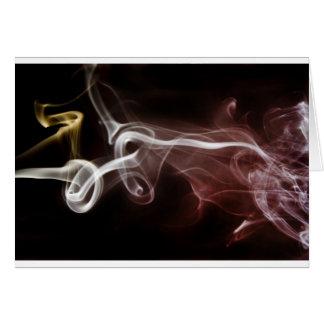 Colorful Smoke Card