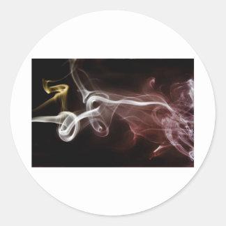 Colorful Smoke Classic Round Sticker