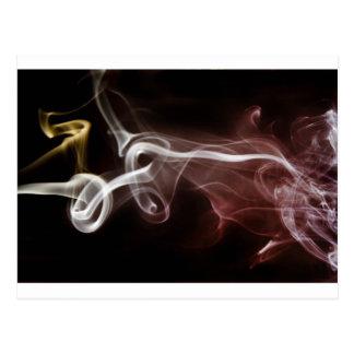 Colorful Smoke Postcard