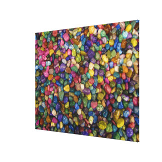 Colorful Smooth and Shiny Pebbles Rocks Canvas Print