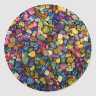 Colorful Smooth and Shiny Pebbles Rocks Classic Round Sticker