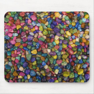 Colorful Smooth and Shiny Pebbles Rocks Mouse Pad