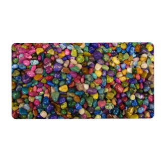 Colorful Smooth and Shiny Pebbles Rocks Shipping Label