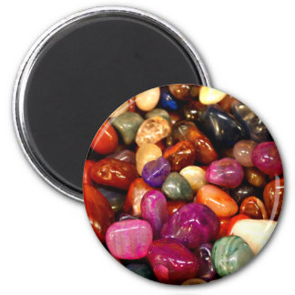 Colorful Smooth Stones Photo Magnet