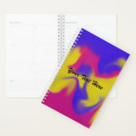 "Colorful Smudge Planner<br><div class=""desc"">Yearly planner in a colorful smudge of pink,  yellow and purple.</div>"