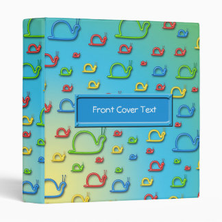 Colorful snails everywhere binder