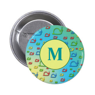 Colorful snails everywhere button