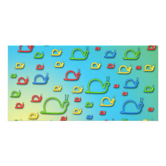 Colorful snails everywhere card