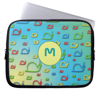 Colorful snails everywhere laptop computer sleeves