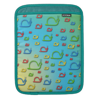 Colorful snails everywhere sleeve for iPads