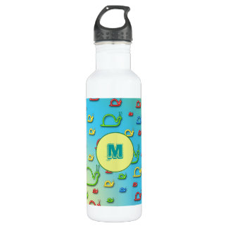 Colorful snails everywhere stainless steel water bottle