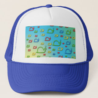 Colorful snails everywhere trucker hat