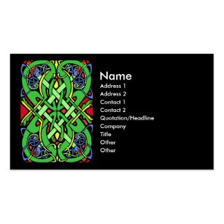 Colorful Snake Celtic Knot Business Card Templates