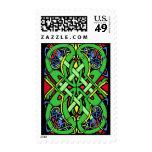 Colorful Snake Celtic Knot Postage Stamp