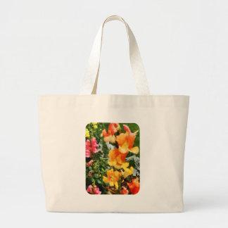 Colorful Snapdragons Large Tote Bag