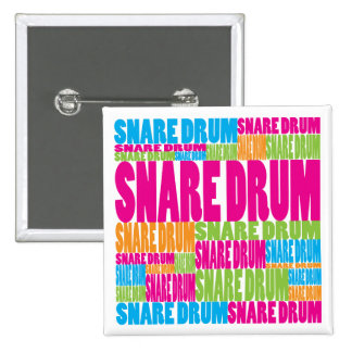Colorful Snare Drum Button