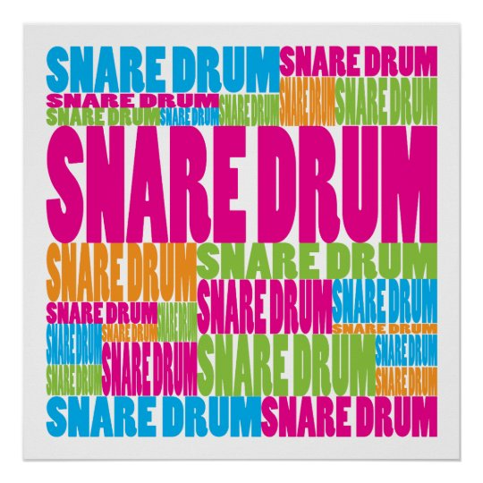 Colorful Snare Drum Poster
