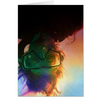 colorful snorkeler card