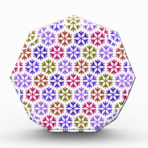 Colorful Snow Flake Pattern Awards