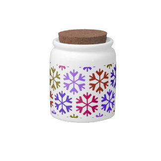Colorful Snow Flake Pattern Candy Dish