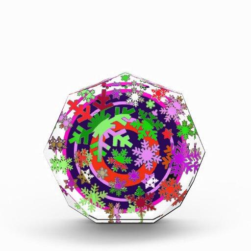 Colorful snow flakes. award