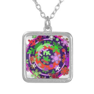 Colorful snow flakes. custom jewelry