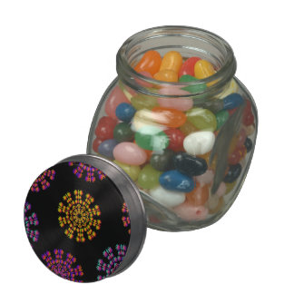 Colorful Snow Flakes Jelly Belly™ Glass Jar