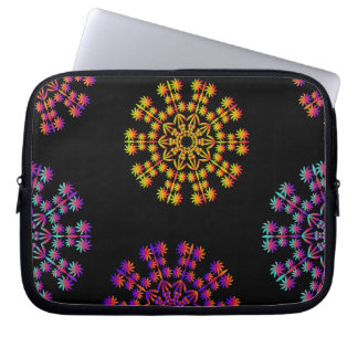 Colorful Snow Flakes Laptop Sleeve 10 inch