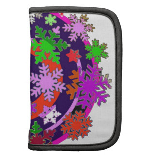 Colorful snow flakes. folio planners
